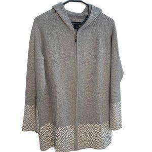 Cynthia Rowley Full Zip Grey Sweater
